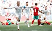 随着摩洛哥的低头,罗纳尔多赢得葡萄牙的胜利世界杯足球比赛直播